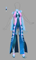 Outfit adopt: Futuristic dress - Closed by Sellenin