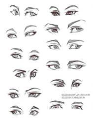 Eyes practice by Sellenin