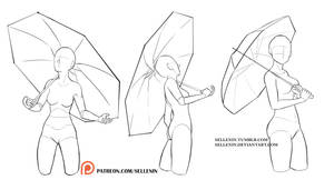 Umbrella Poses by Sellenin