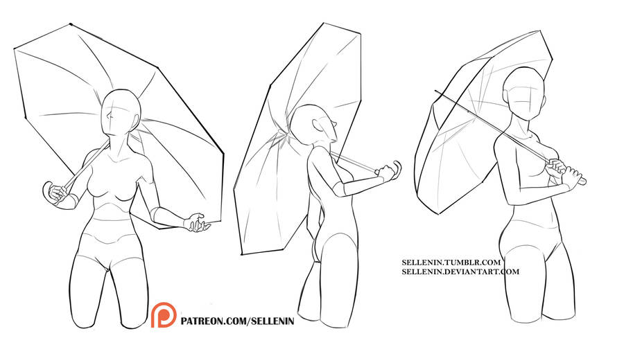 Umbrella Poses By Sellenin On Deviantart
