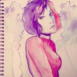 Watercolor by Sellenin