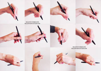 Hands photo reference by Sellenin