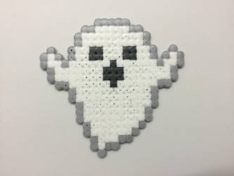Hama Bead Pixel Ghost by Dogtorwho