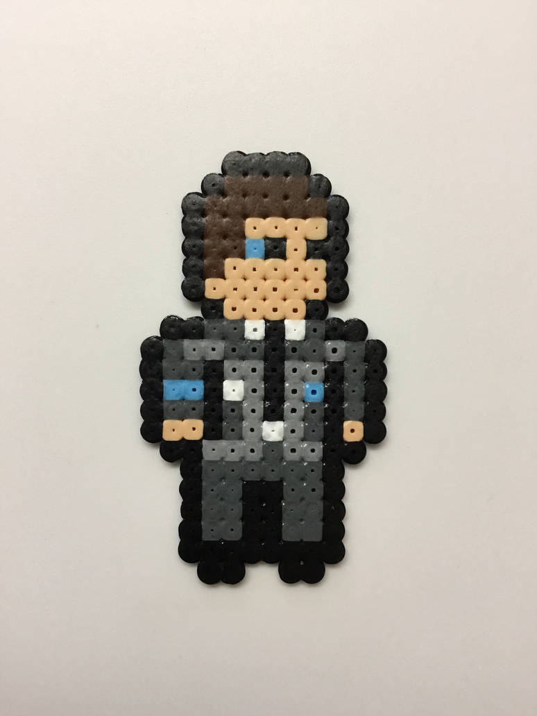 Detroit: Become Human- Connor: Hama Bead Pixel Art by Dogtorwho