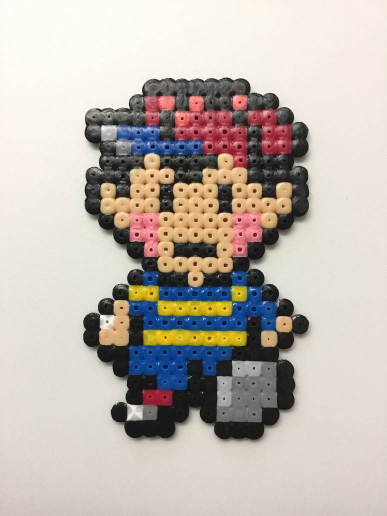 Earthbound- Ness: Hama Bead Pixel Art by Dogtorwho