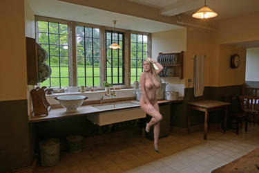 Natalie scullery maid by Singingnaturist
