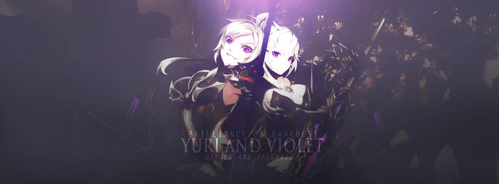 Yuri And Violet Brilliance of Darkness by AKurniawanN