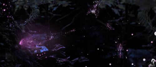 Broceliande By Night by 20syl44