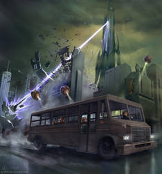 Bus ride by A-Shift
