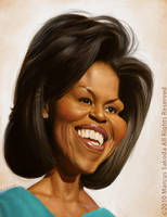 Michelle Obama Caricature by Jubhubmubfub