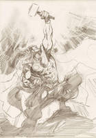 Thor sketch 02 by Cinar