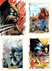 Wolverine Sketch Cards 01 by Cinar
