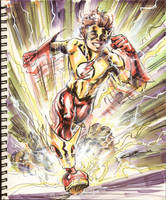 Sketch 23: Kid Flash by Cinar