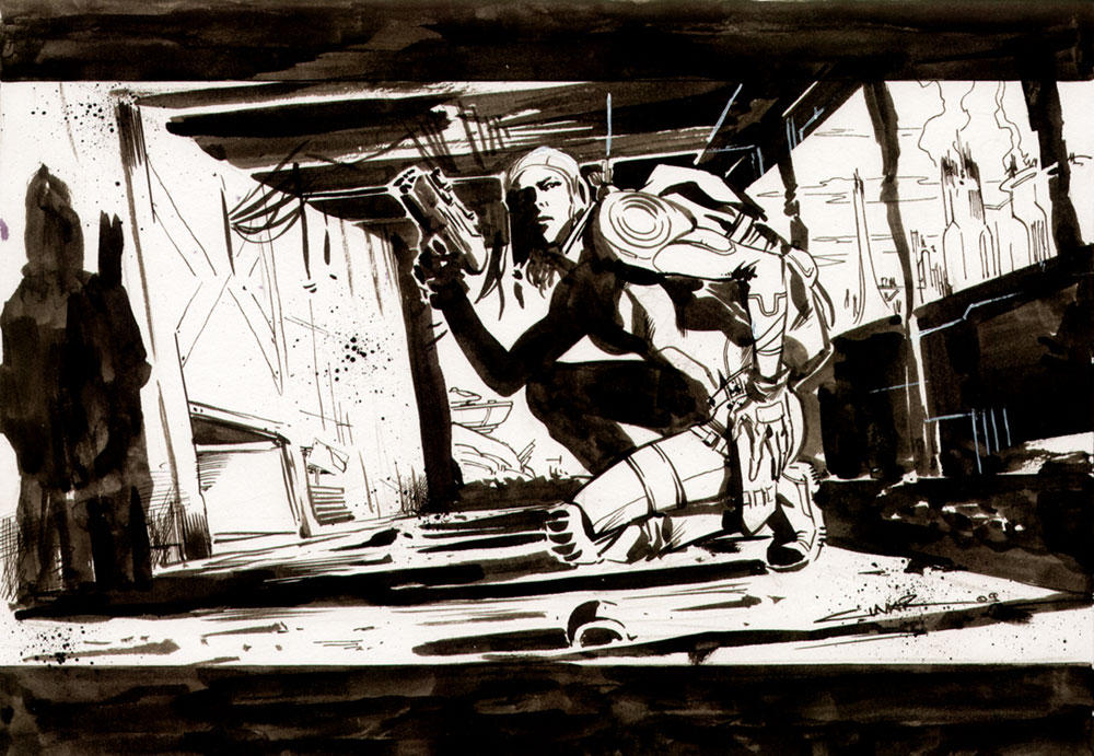 The Search in Ruins by Cinar