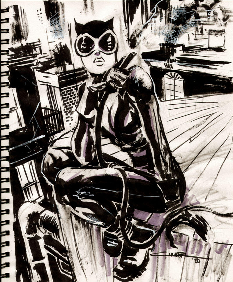 Sketch 29: Catwoman by Cinar