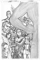 Legion 8 cover pencils by Cinar