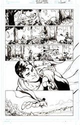 Superman and the baby by Cinar