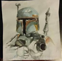 Boba Sketch by djinnie