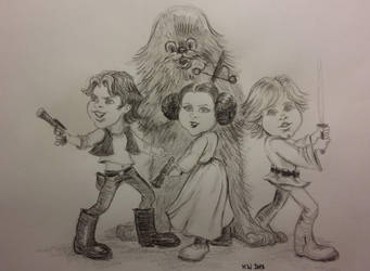 Star Wars New Hope cartoon by djinnie