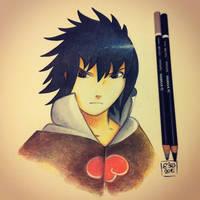 Sasuke - pencil fanart by Elimonne