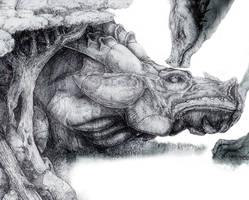 Dragon Bonsai - One Fourth by LliaOlsen