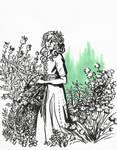 Inktober - 25 prickly [Herbalist] by AkiaWalker