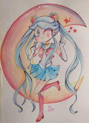 Sailor MOON by diligi