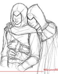 Altair/Ezio Sketch by MikuLance382