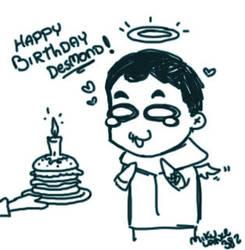 HAPPY BIRTHDAY DESMOND by MikuLance382