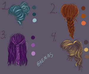 Hairstyle References By K E M A S On Deviantart