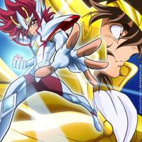 Kouga and Seiya by EtaminDraconis