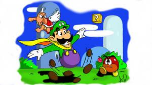 Luigi - Super Mario World by Morbidly-Obtuse