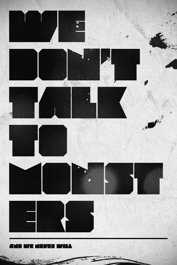 We Don't Talk To Monsters by vedoo