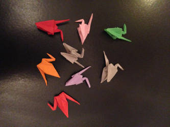 tiny cranes by Sadakocranes