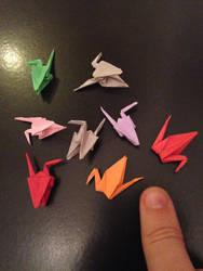 tiny cranes 2 by Sadakocranes