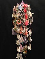peace cranes hanging1 by Sadakocranes