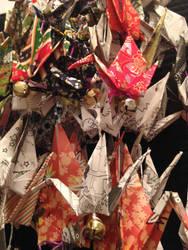 cranes with bells by Sadakocranes