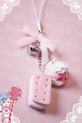 Sweet Tooth Cell Charm by CandyStripedCafe