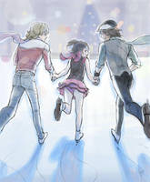 Ice Skating by frogstarr