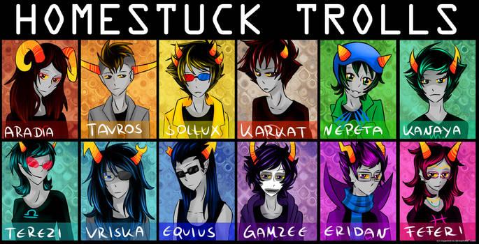 all homestuck trolls by Timeless-Knight