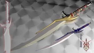 Fantasy Blade 3d Model Sale by Bahr3DCG