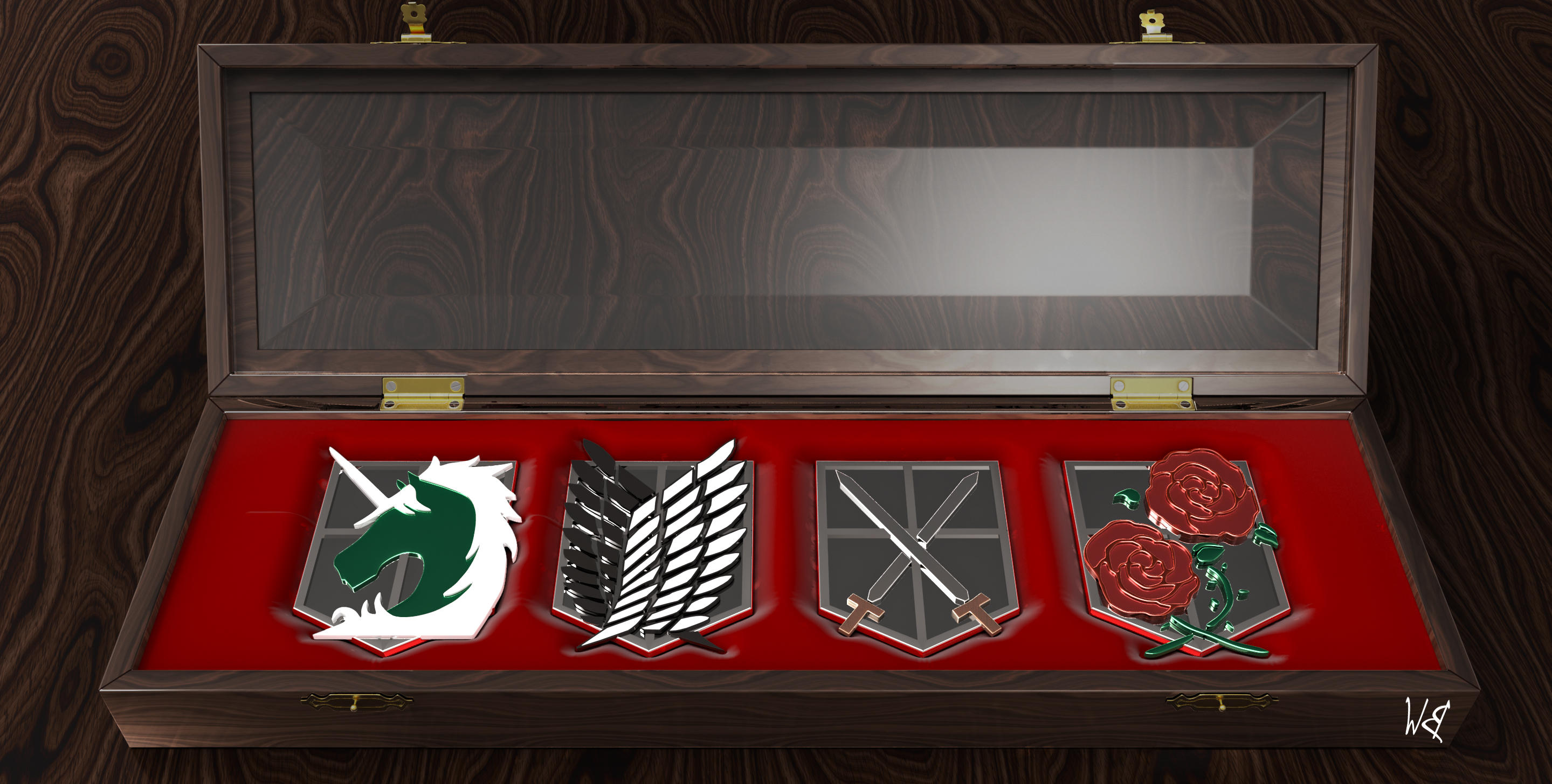 Attack on Titan Military Branch Emblems by Bahr3DCG