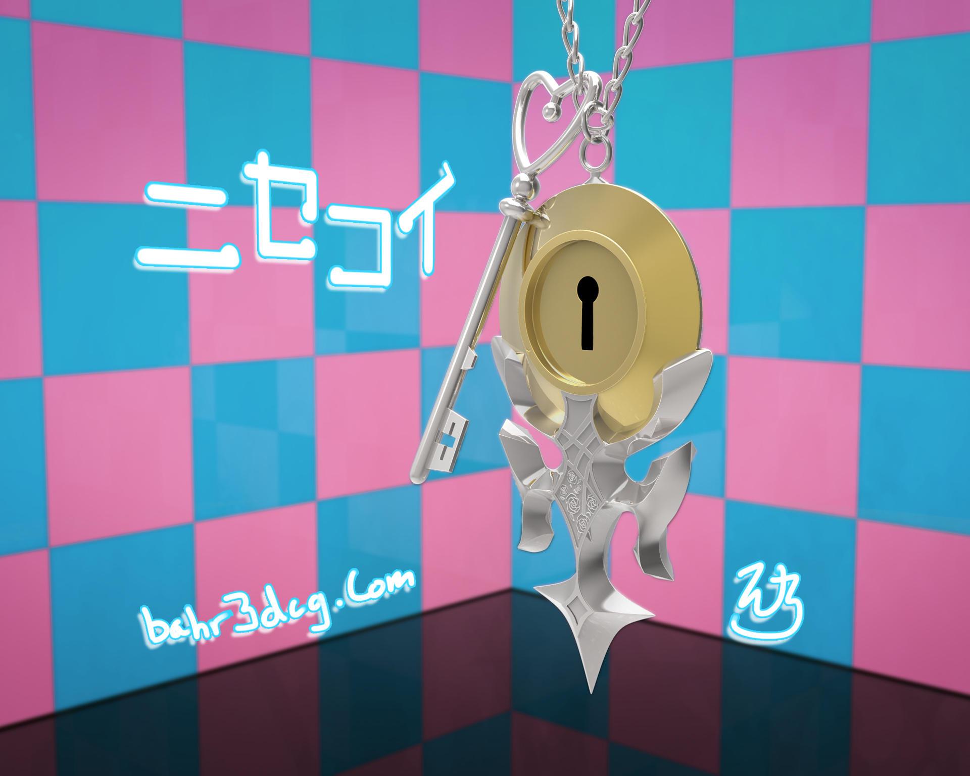 Nisekoi: Pendant and Key 3D by Bahr3DCG