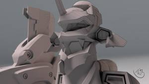 Eva Model Preview Closeup by Bahr3DCG