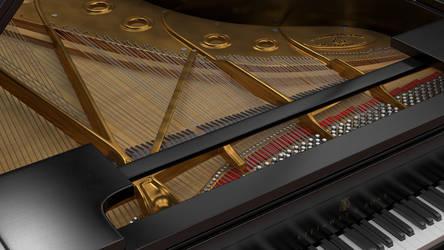 Steinway Grand Piano Interior by Bahr3DCG