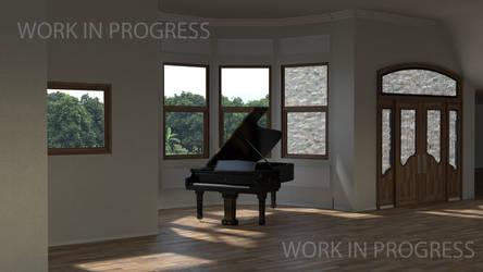 Interior Scene - WIP 8 by Bahr3DCG