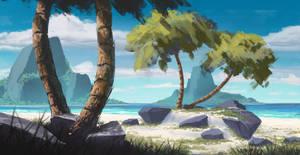 Tropical Beach by TomPrante