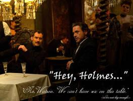 Hey Holmes by cavatappimonster