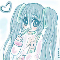 MIku doodle by Nipaasama