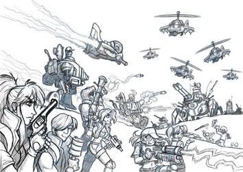 Metal Slug Attack Doodle by alexsanlyra